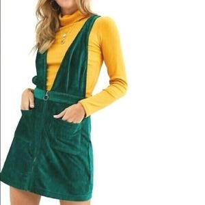 Urban Outfitters Moon River Green Pinafore Dress